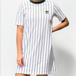 Adidas Originals Stripe Out Cotton T-shirt Dress S